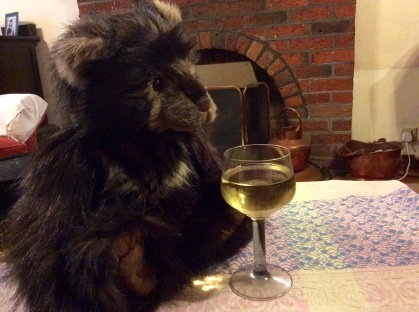 Bernard enjoys a tipple