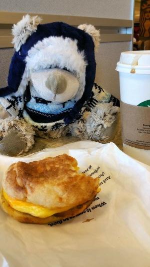In Starbucks at Salt Lake City airport